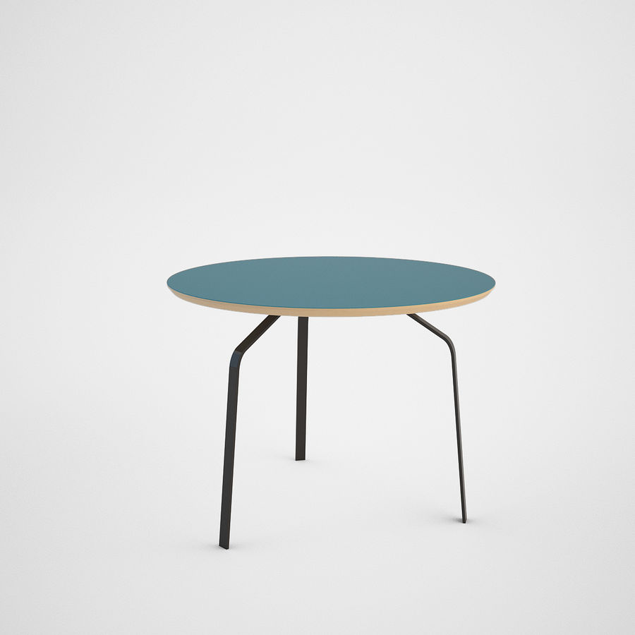 Coffee table set royalty-free 3d model - Preview no. 11