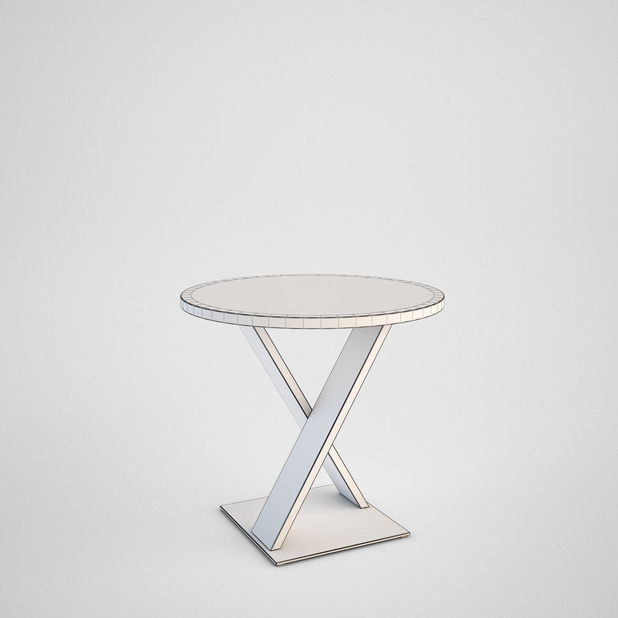 Coffee table set royalty-free 3d model - Preview no. 3