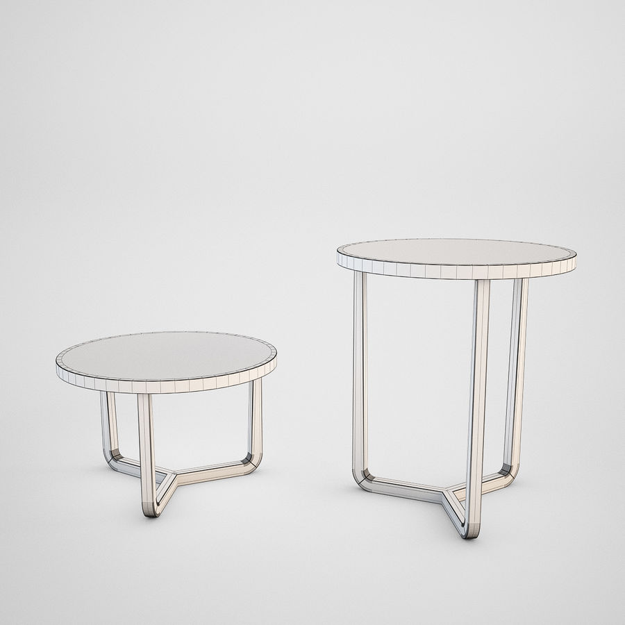 Coffee table set royalty-free 3d model - Preview no. 19