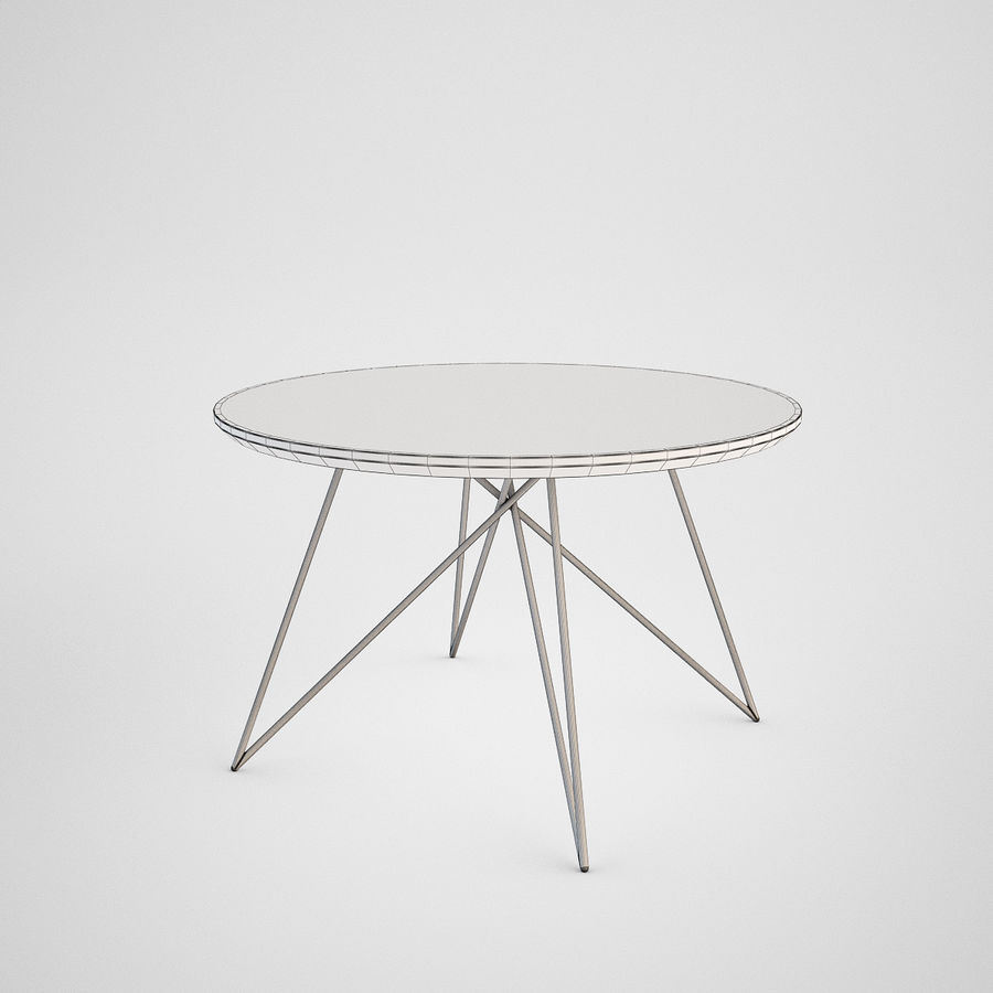 Coffee table set royalty-free 3d model - Preview no. 10
