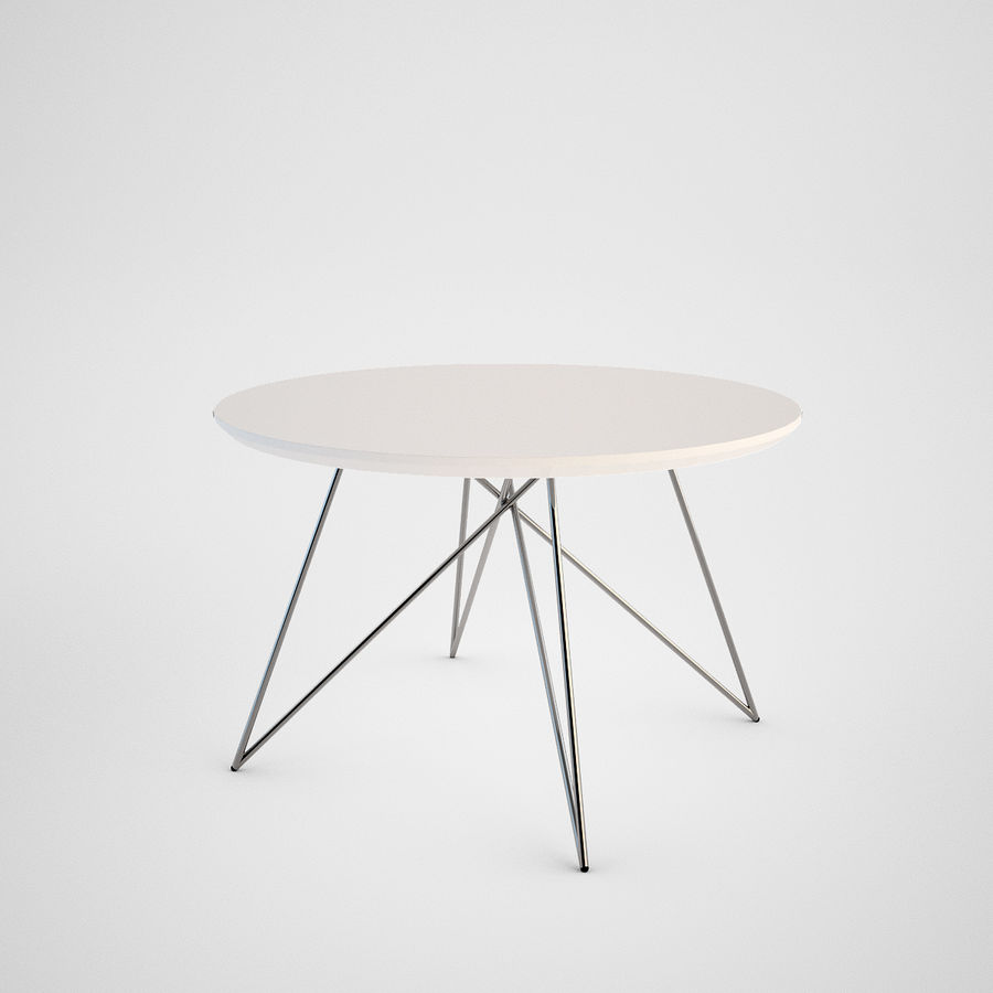 Coffee table set royalty-free 3d model - Preview no. 9