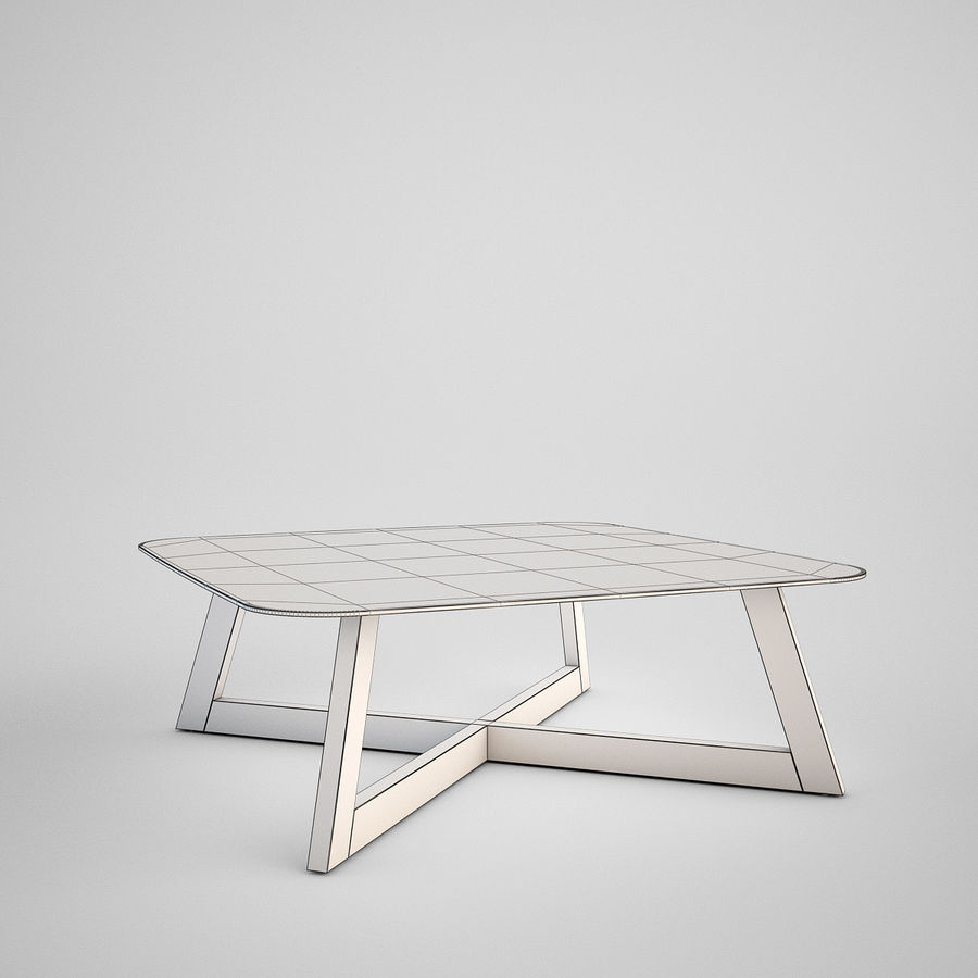 Coffee table set royalty-free 3d model - Preview no. 15