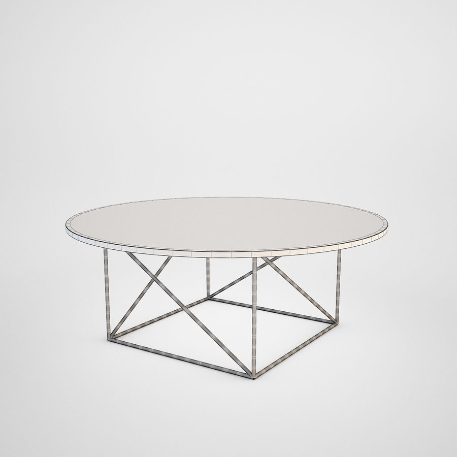 Coffee table set royalty-free 3d model - Preview no. 17