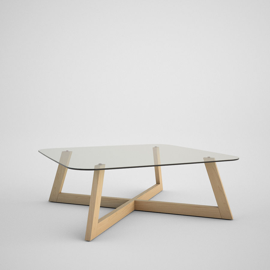 Coffee table set royalty-free 3d model - Preview no. 14