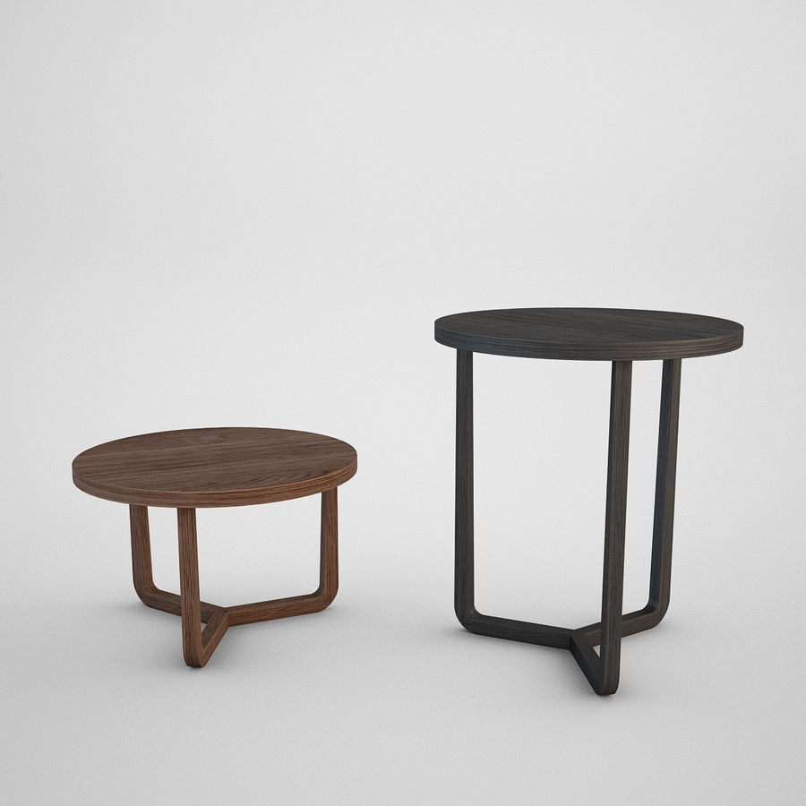 Coffee table set royalty-free 3d model - Preview no. 18