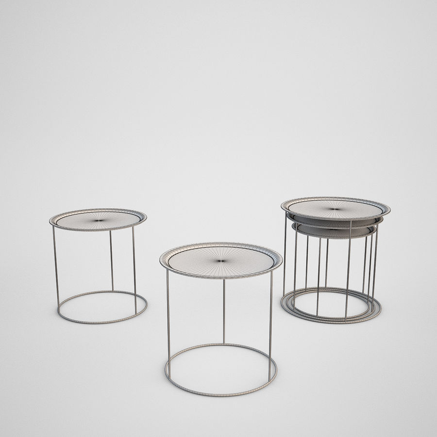 Coffee table set royalty-free 3d model - Preview no. 13