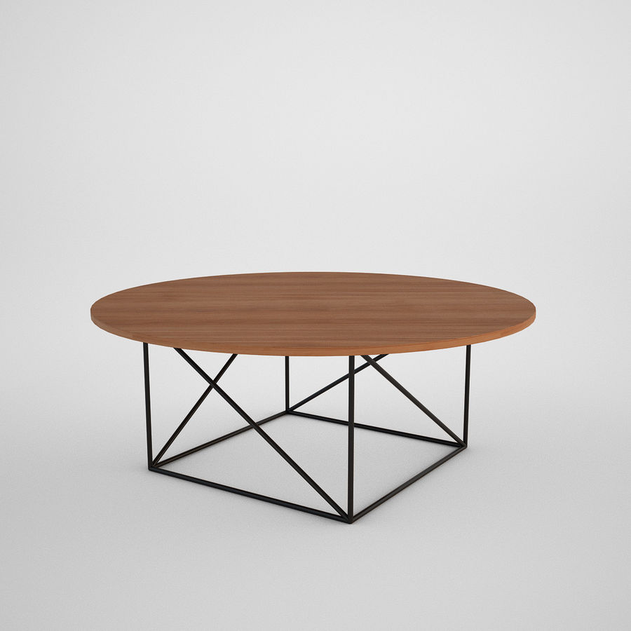 Coffee table set royalty-free 3d model - Preview no. 16
