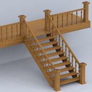 木制楼梯 3d model