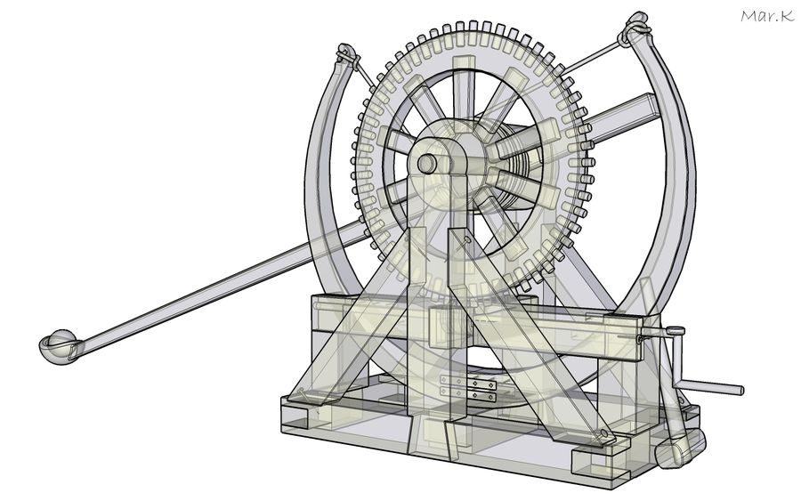 Catapult 4 royalty-free 3d model - Preview no. 10