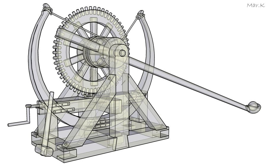 Catapult 4 royalty-free 3d model - Preview no. 9