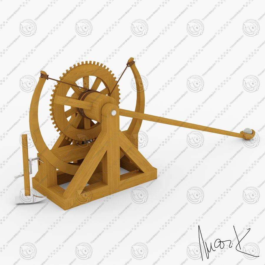 Catapult 4 royalty-free 3d model - Preview no. 1