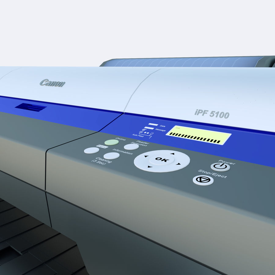 Plotter PhotoCopier royalty-free 3d model - Preview no. 1