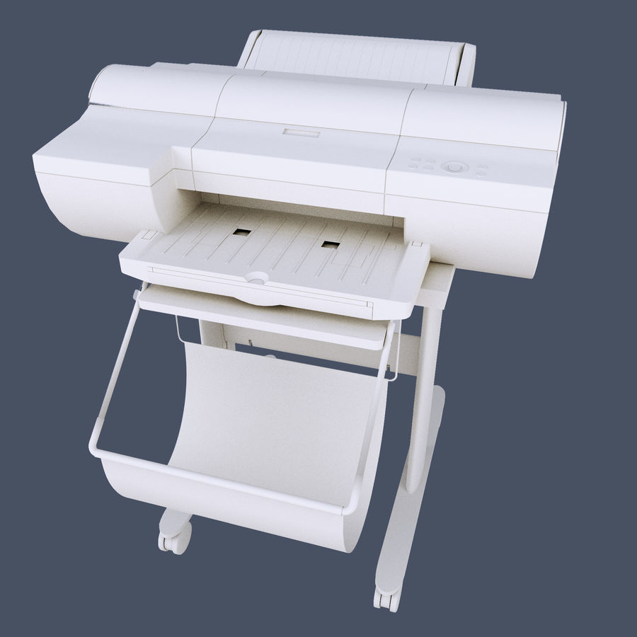 Plotter PhotoCopier royalty-free 3d model - Preview no. 5