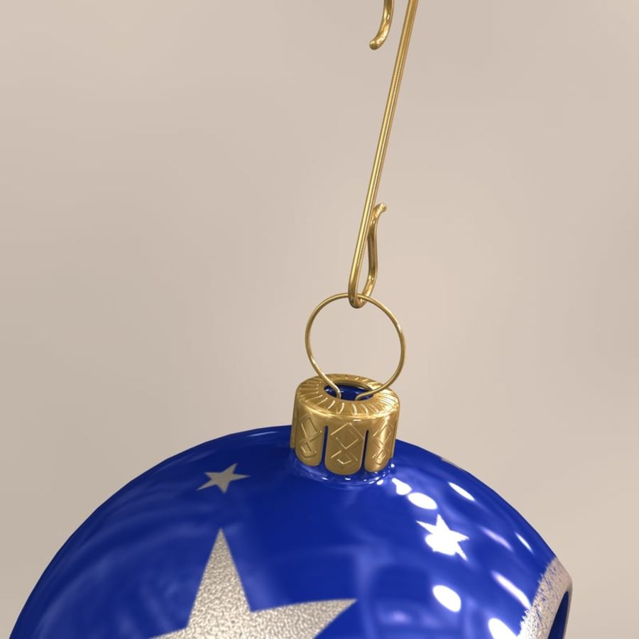 Christmas Ball 02 royalty-free 3d model - Preview no. 5