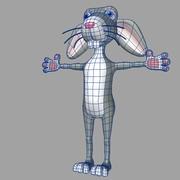 coniglio cartone animato 1 3d model