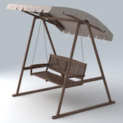 Porch Swing 02 3d model