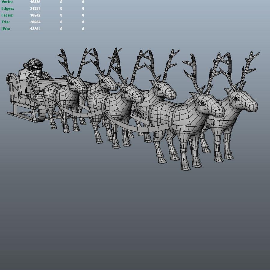 サンタのそり royalty-free 3d model - Preview no. 4