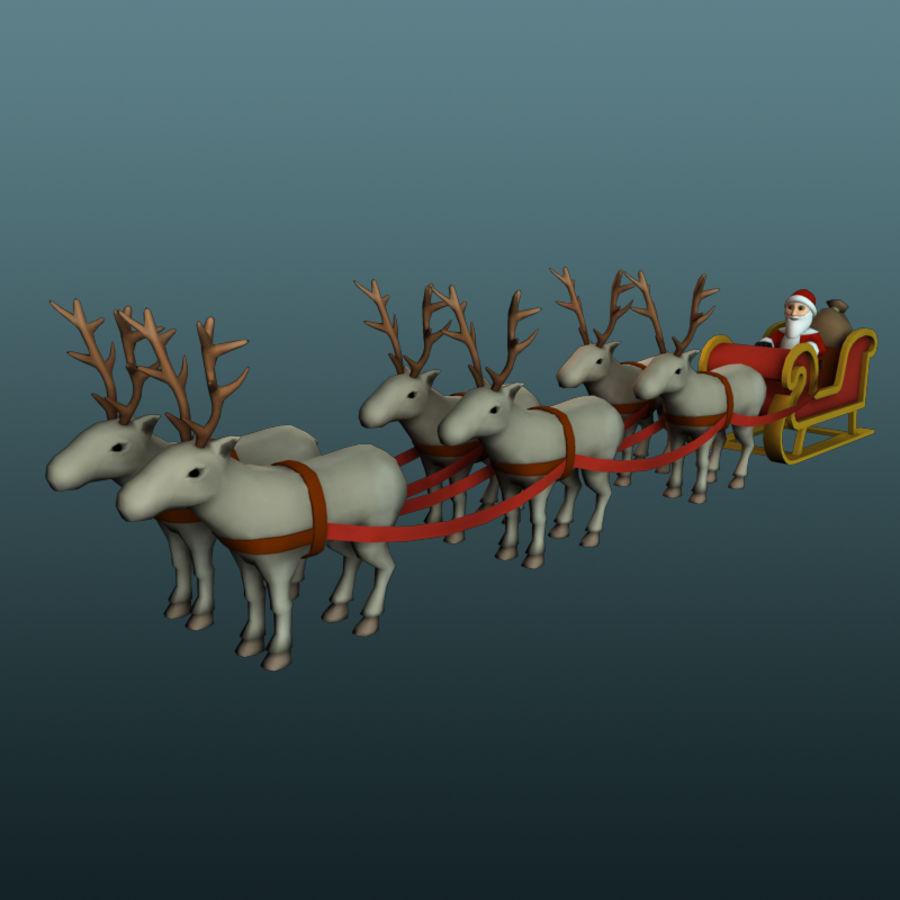 サンタのそり royalty-free 3d model - Preview no. 1