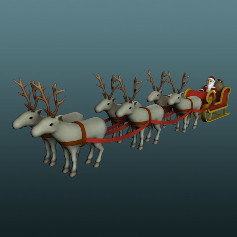 Trineo de santa royalty-free modelo 3d - Preview no. 1