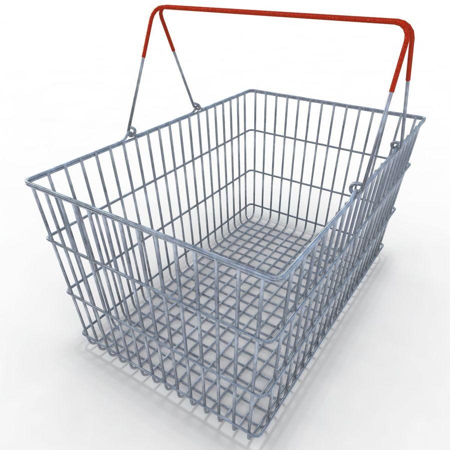 Koszyk supermarketów royalty-free 3d model - Preview no. 3