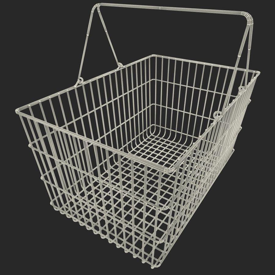 Koszyk supermarketów royalty-free 3d model - Preview no. 11