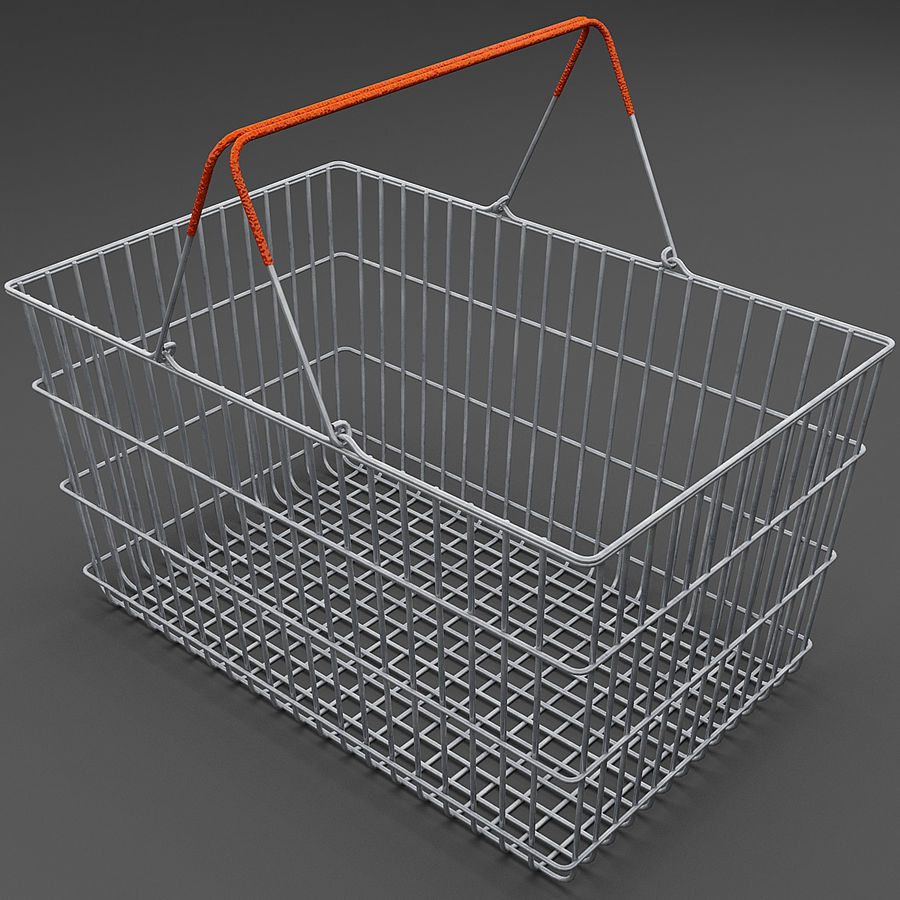 Koszyk supermarketów royalty-free 3d model - Preview no. 1