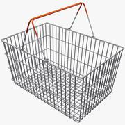 Cesta de compras del supermercado modelo 3d