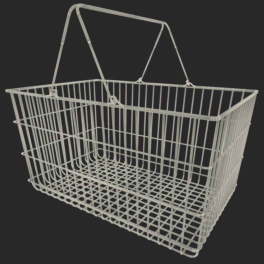 Koszyk supermarketów royalty-free 3d model - Preview no. 16