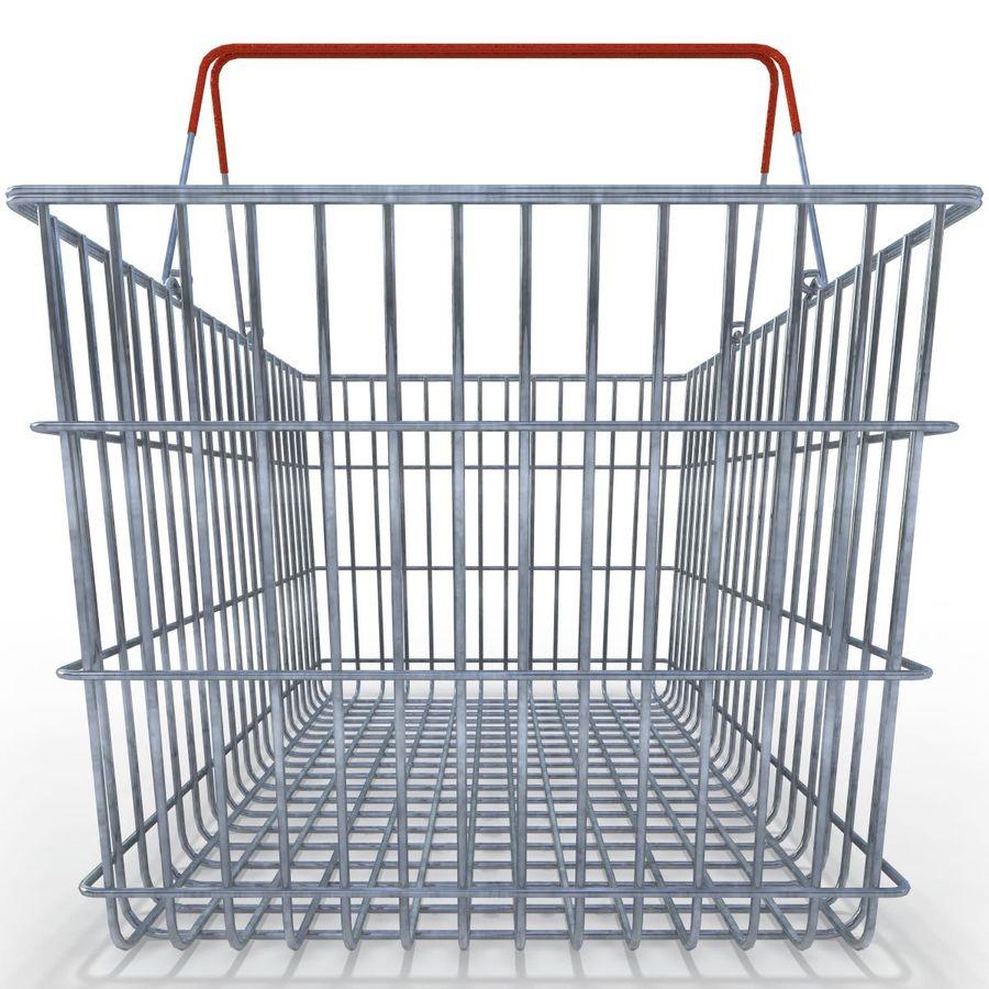 Koszyk supermarketów royalty-free 3d model - Preview no. 4