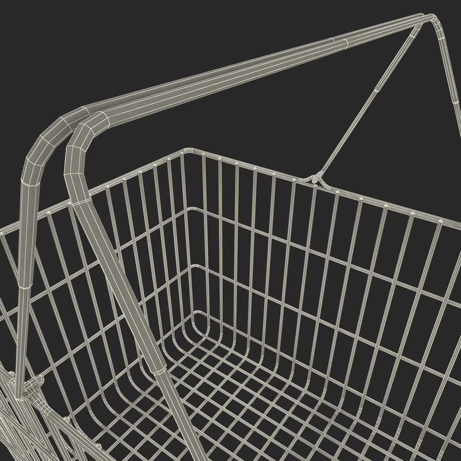 Koszyk supermarketów royalty-free 3d model - Preview no. 19