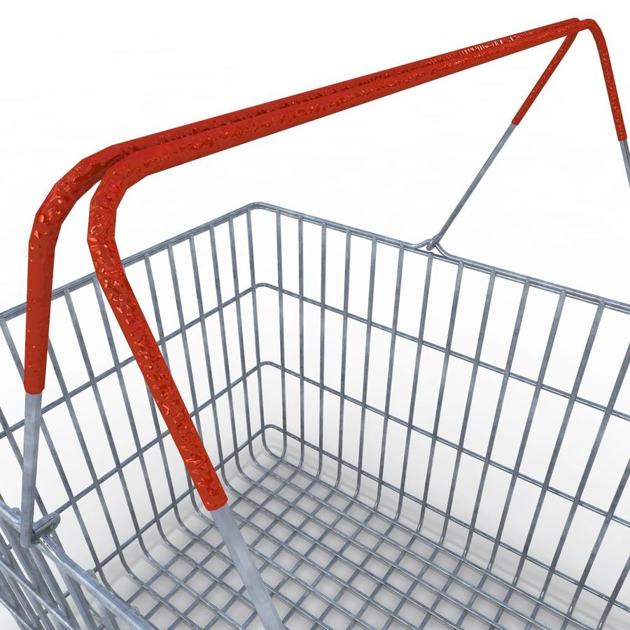 Koszyk supermarketów royalty-free 3d model - Preview no. 10