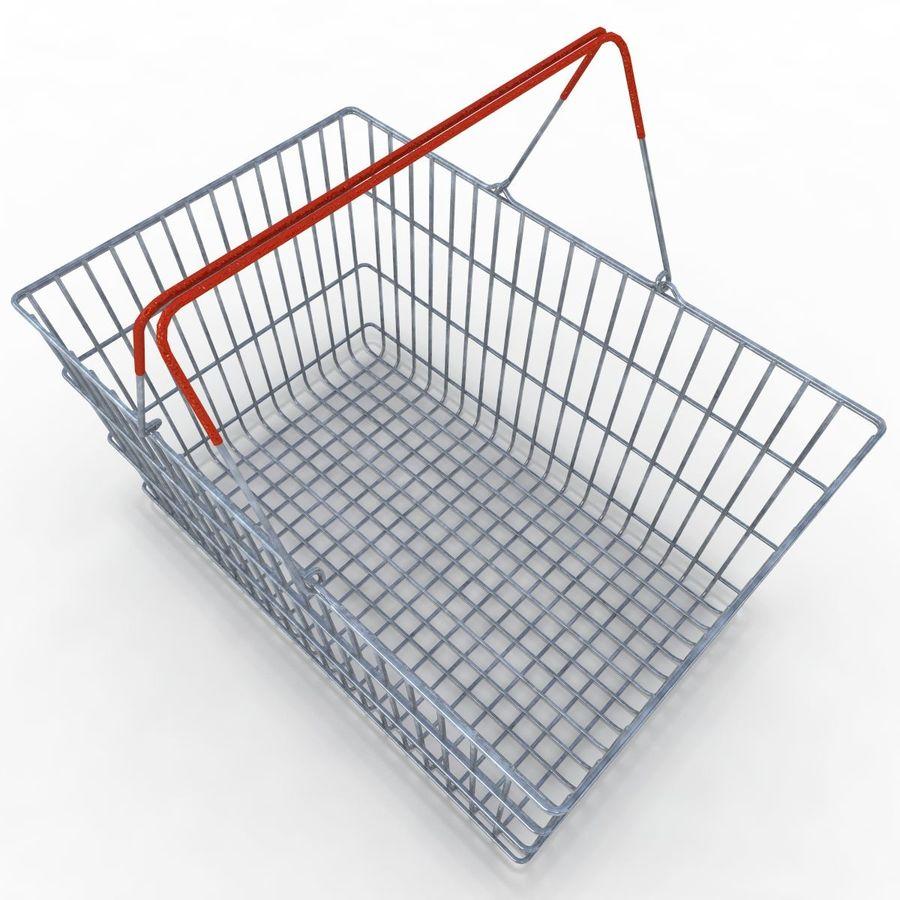 Koszyk supermarketów royalty-free 3d model - Preview no. 7