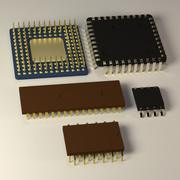 芯片 3d model