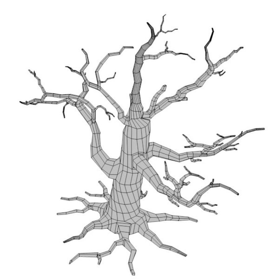 dead tree royalty-free 3d model - Preview no. 4