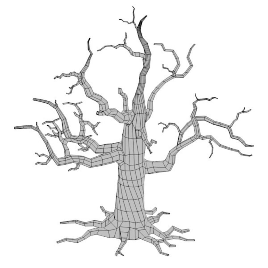 dead tree royalty-free 3d model - Preview no. 3