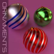 圣诞装饰品包 3d model