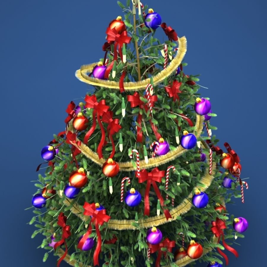 Christmas tree royalty-free 3d model - Preview no. 2