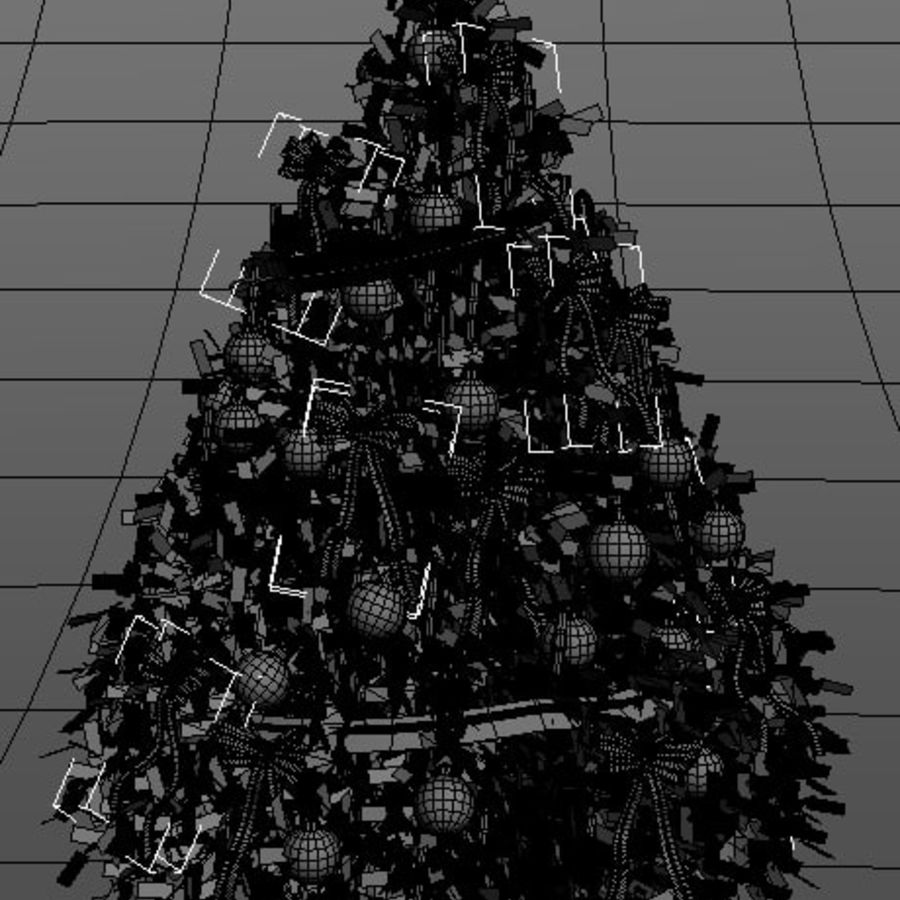 Christmas tree royalty-free 3d model - Preview no. 4