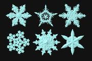 Snowflakes (pacco da 6) 3d model