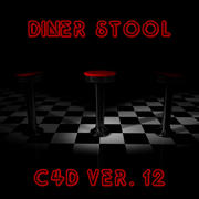 Diner Stool 3d model