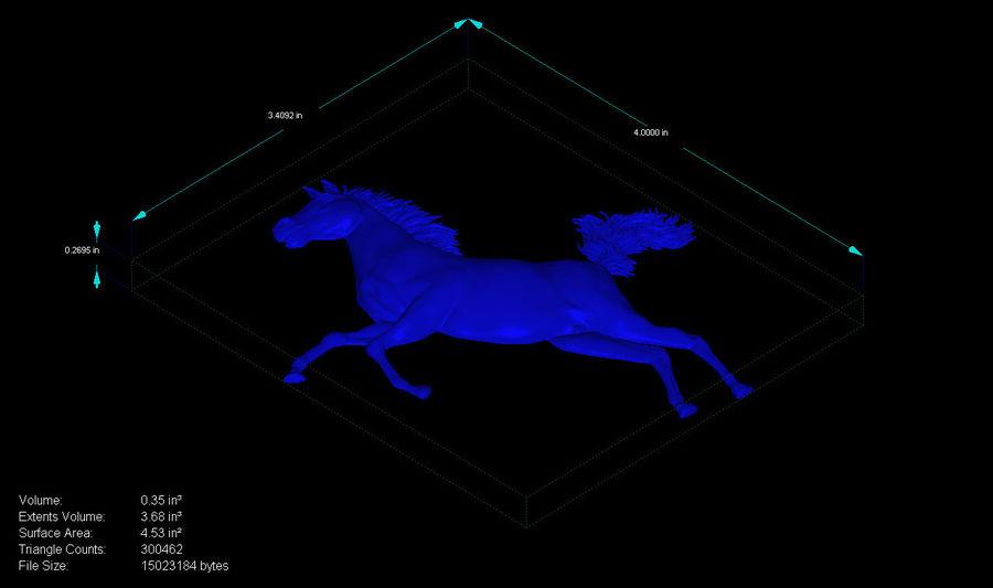 Uppfödning av hästbasrelief royalty-free 3d model - Preview no. 4