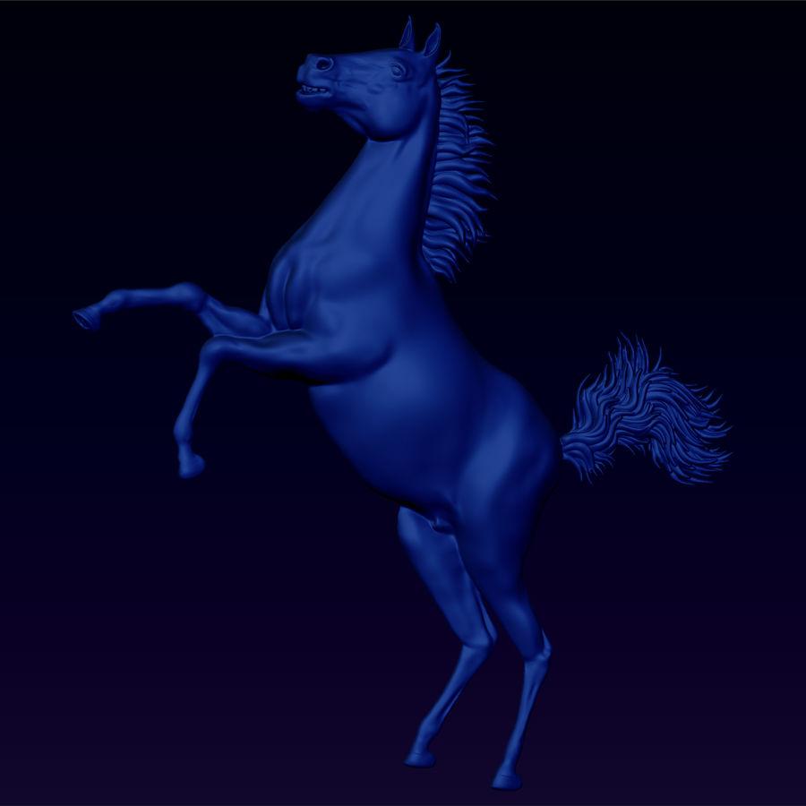 Uppfödning av hästbasrelief royalty-free 3d model - Preview no. 1