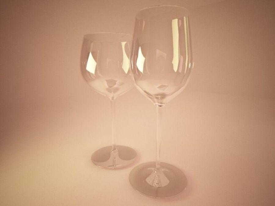와인 잔 royalty-free 3d model - Preview no. 4