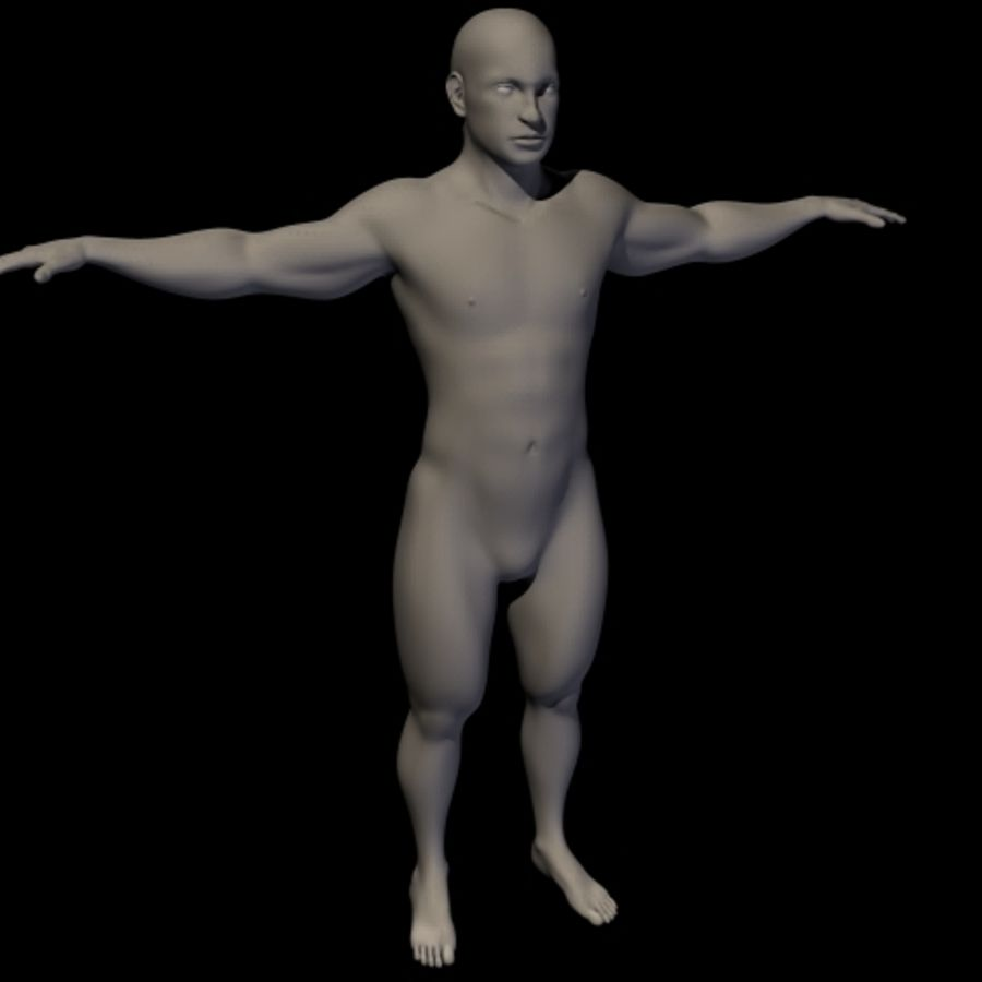 Male royalty-free 3d model - Preview no. 7