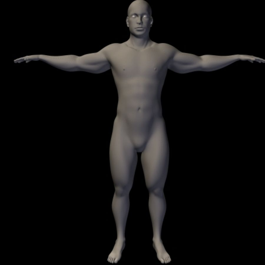 Male royalty-free 3d model - Preview no. 6