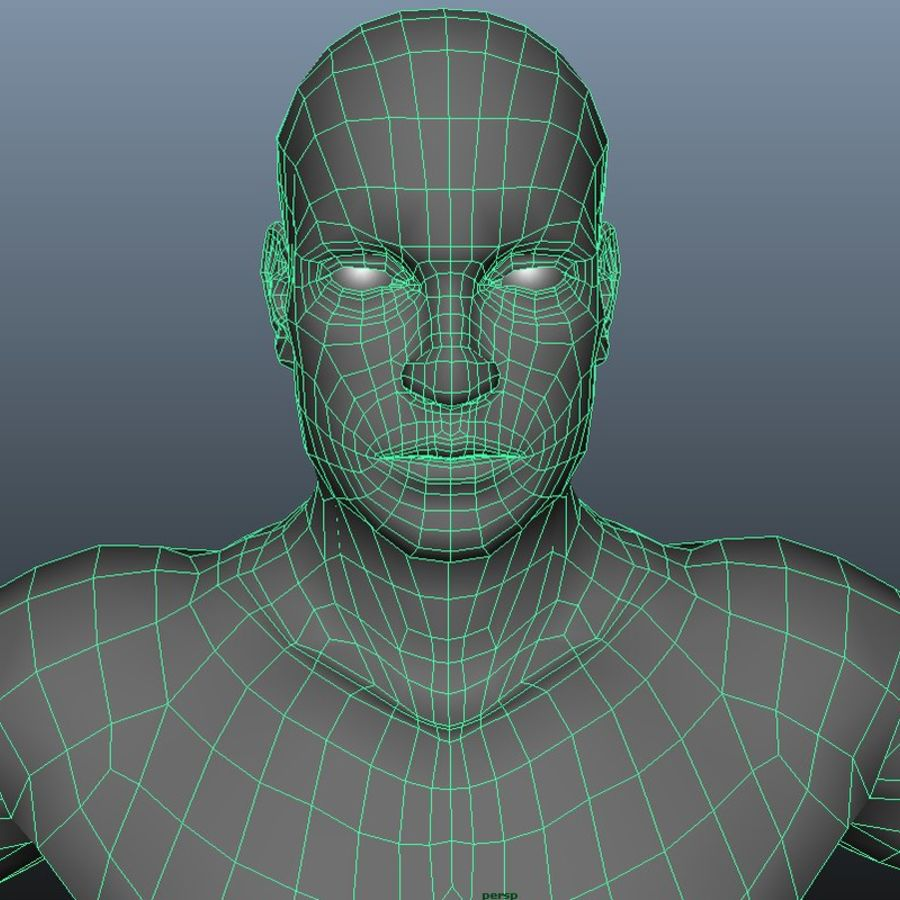 Male royalty-free 3d model - Preview no. 10