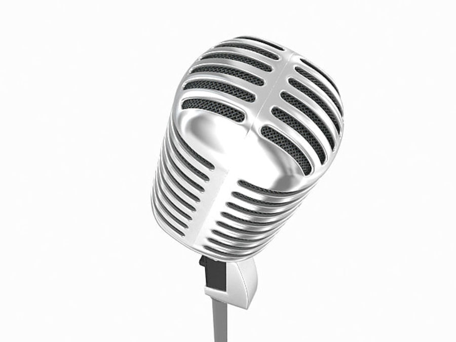 Retro microphone royalty-free 3d model - Preview no. 5