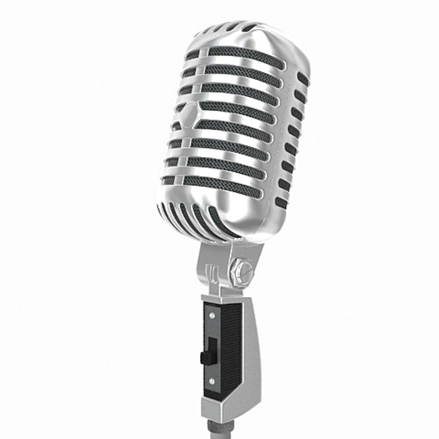 Retro microphone royalty-free 3d model - Preview no. 1