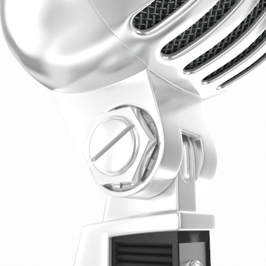 Retro microphone royalty-free 3d model - Preview no. 8