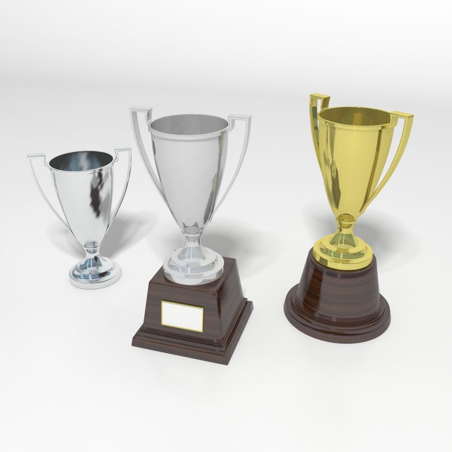 Trofee Cup royalty-free 3d model - Preview no. 11